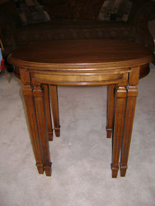 Oval and Rectangular Nesting Tables
