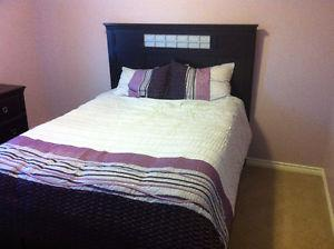 Queen size bed and dresser set