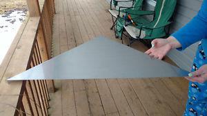 Stainless steel corner shelfs