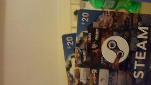 Steam $40 worth of gift cards for $30