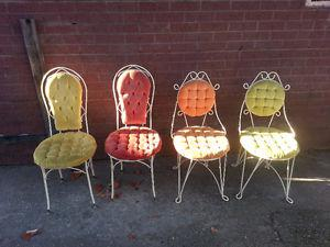 VIntage Ice Cream Parlour Chairs set of 4