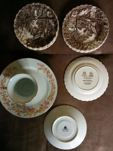 Various Antique Dishes, tea cups etc