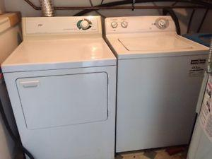 Washer/Dryer Set, in good condition, for sale $