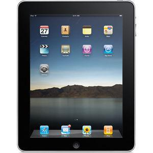 iPad 1st Generation 16GB Black, in good working condition.