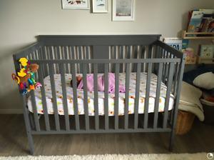 3 in 1 Convertible Grey Crib