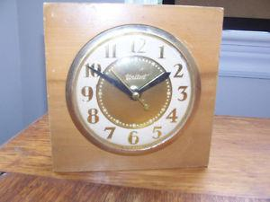 "Antique ""United"" Electric Clock 6in by 6in"