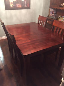 Ashley Furniture 7 piece solid wood dining set