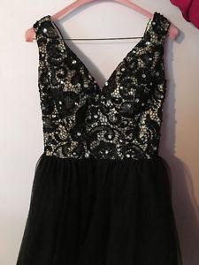 Black Semi Prom Dress