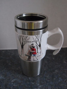 """Brand New """"Fallen for You"""" Travel Thermo Coffee Cup with Lid"""