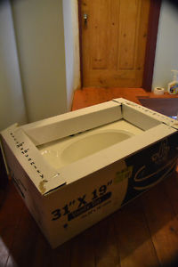 Brand New White Vanity Top (one-piece sink & counter)