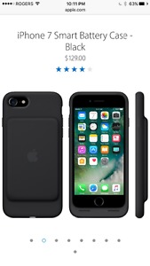 Brand new iPhone 7 Smart battery Cover case black