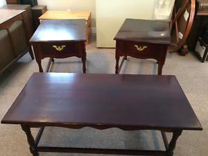 Coffe Table Set, All Wood