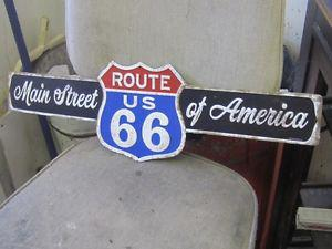 DECORATIVE ROUTE 66 MAIN ST. of AMERICA TIN SIGN $