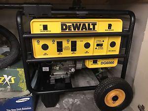Dewalt generator  watts Honda engine