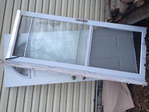 Exterior door with screen door 75