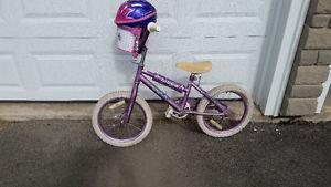 Girls bicycle and helmet $20 for both