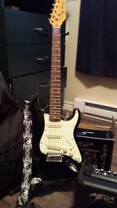 Jay Turser Strat Stratocaster Electric Guitar Bundle