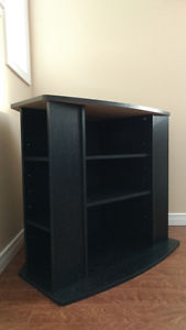 *Like New* Black TV Stand with Shelves (Rexton)
