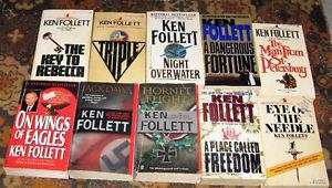 Lot of 10 Ken Follet books $10 for the lot