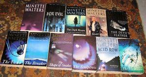 Lot of Minette Walters books $10 for the lot