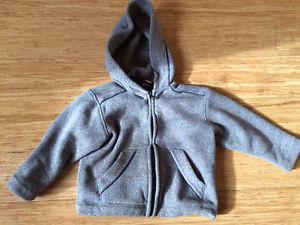 MEC brand fleece jacket, 4T size, grey colour, in good shape