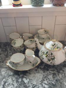 Royal Albert White Dogwood China Tea Set