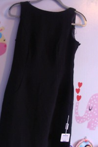 Size 4 long black dress with backdrop back NEW WITH TAGS