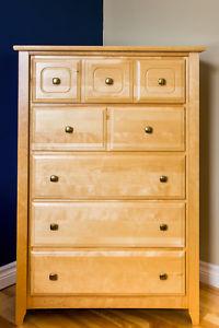 Solid birchwood bedroom set
