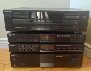 Sony CD Player and Receiver/Amp/Equalizer