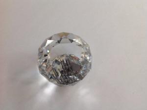 Swarovski Crystal Commemorative Paperweight QE II Coronation