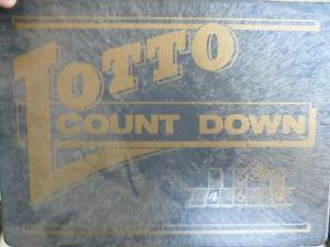Vintage  Lotto Countdown Board Game