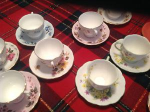 Vintage s Bone China Cups & Saucers -$10 EACH SET