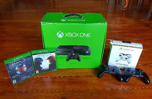 Xbox One with 3 controllers and games