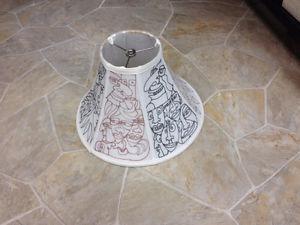 lamp shade with my original artwork drawn on it