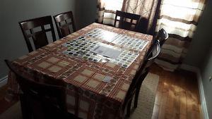 sofa set, dining set, coffee table, night lamp table, floor