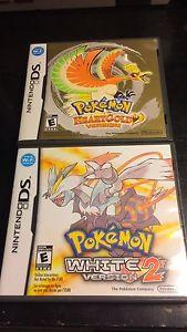 4 Pokemon games for Nintendo ds