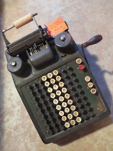 Antique Adding machine. Very cool! Very Vintage! Unique