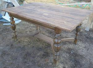 Beautiful Rustic Antique Dining Table W Barn Board Top 3ft x