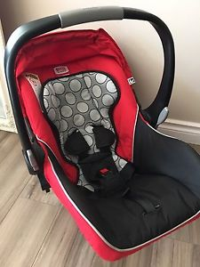 Britax B Safe infant car seat with a base