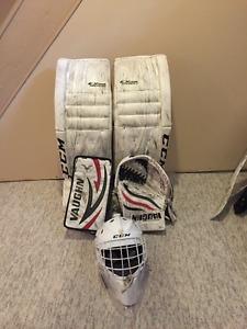 CCM/Vaughn Senior Goalie Equipment Set-Pads, Glove/Blocker,