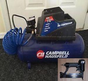Campbell Hausfeld Compressor & Brad Nailer - Like New