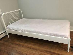 Ikea metal bed frame mattress