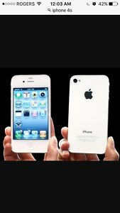 IPHONE 4s, 16gb, white, BELL, excellent condition, $120