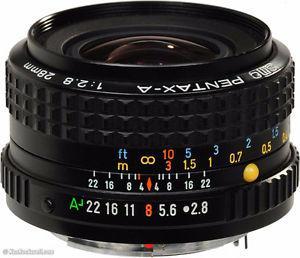 PENTAX - A SMC 28mm f/2.8 manual focus lens