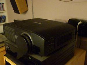 Panasonic P 3D Home Video Projector + Screen + 3D
