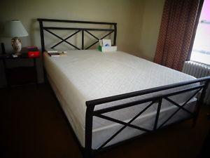 Queen memory foam mattress and boxspring
