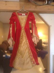 Red velvet princess dress