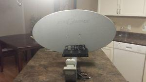 Shaw Direct Satellite Dish with Receiver and Remote