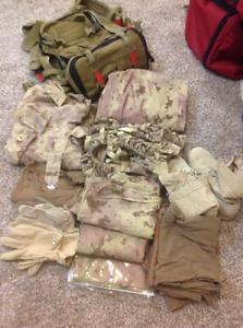 Tons of tactical gear for sale by owner.