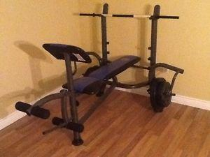 Weight bench and decline $100